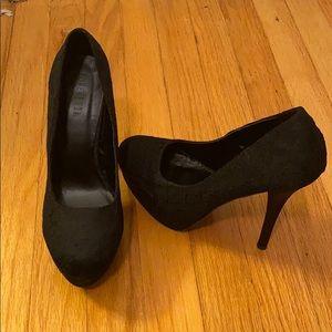 Forever 21 Black Lace Heels